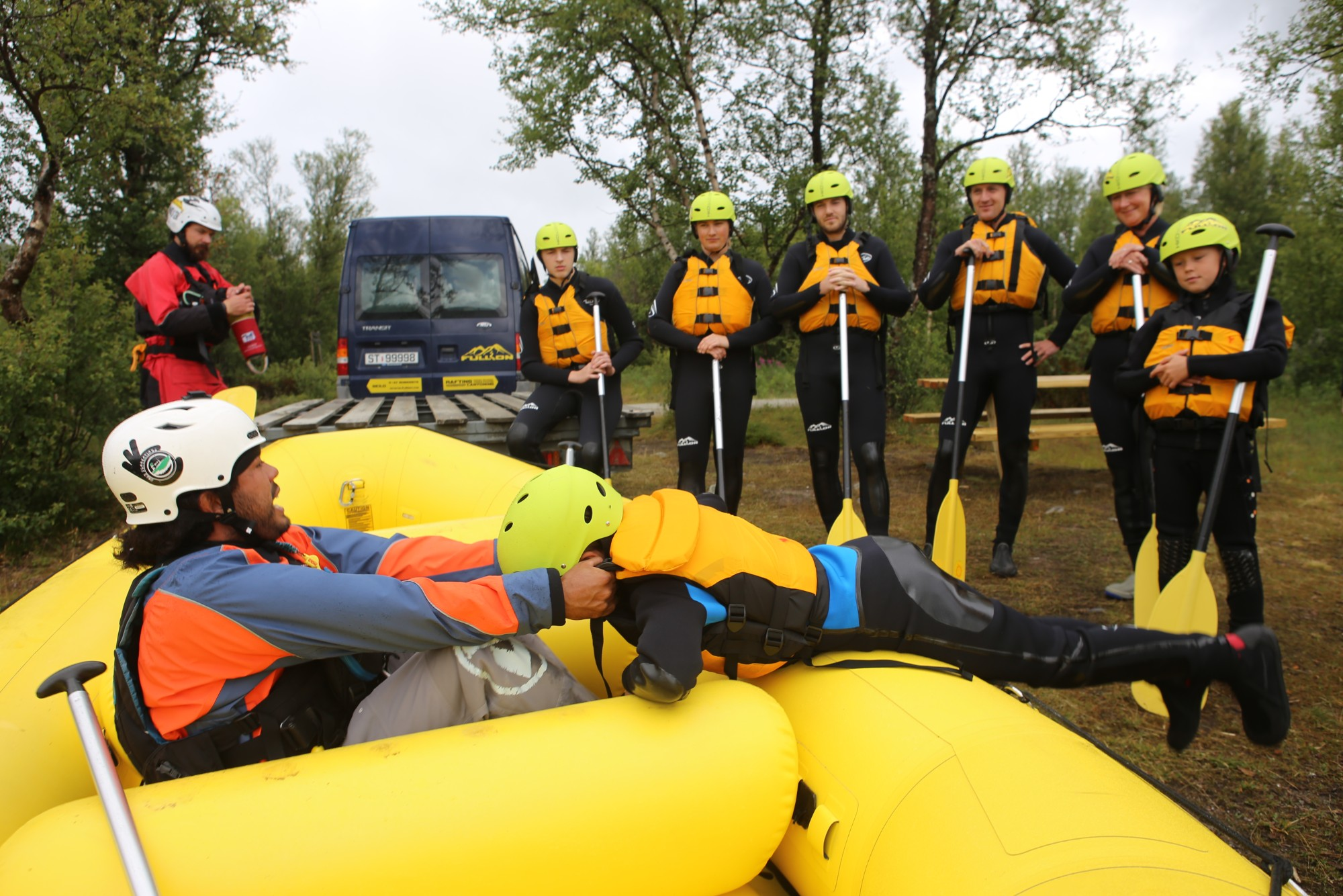 Familie Rafting