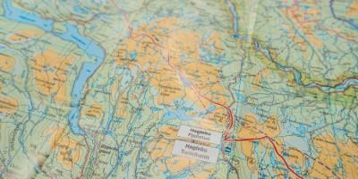 Kart Eventyrløypa og Hallingdalsløypa nord og sør