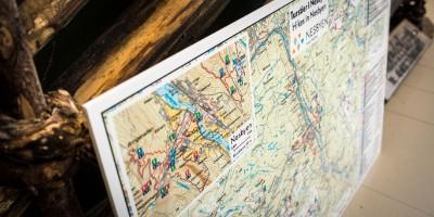 A2 veggkart Turstier i Nesbyen